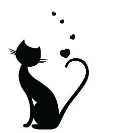 Car Decal Cat tail hearts