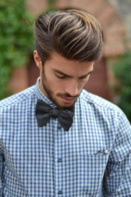 Men's pompadour hairstyle #longhairstylesformen