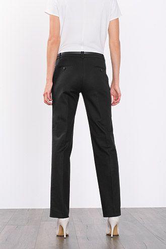 Crisp stretch cotton trousers