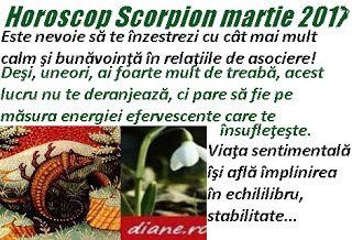 Horoscop martie 2017  Scorpion