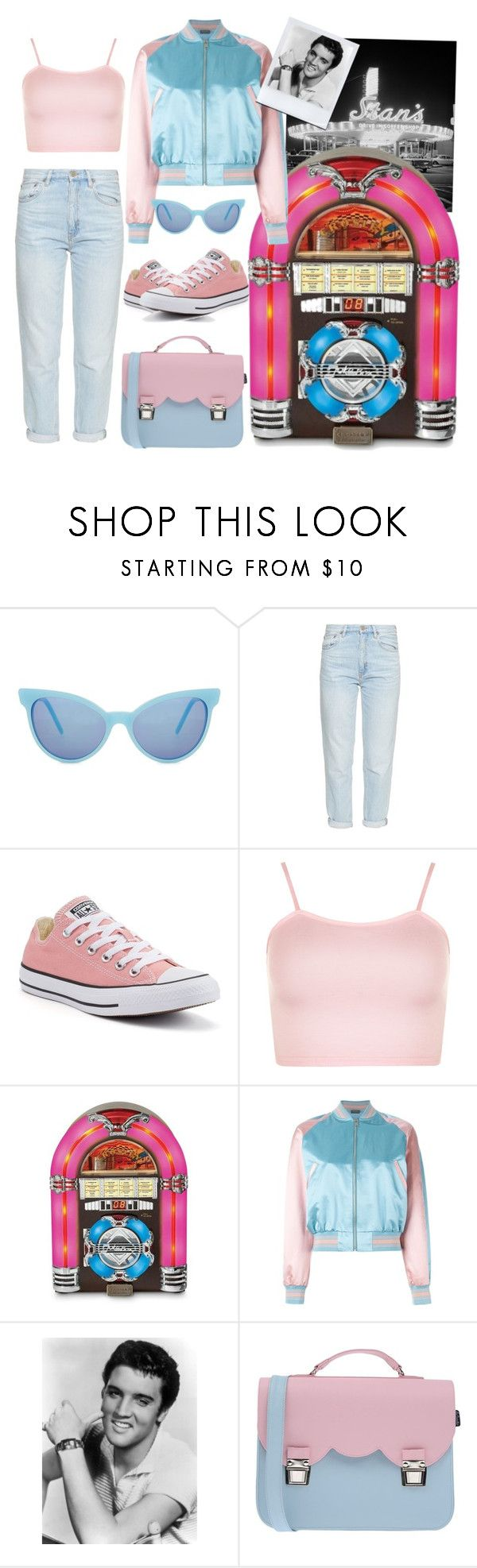"""Play that funky music"" by xmoonagedaydreamx ❤ liked on Polyvore featuring Wildfox, M.i.h Jeans, Converse, WearAll, Crosley Radio & Furniture, Alexander McQueen and La Cartella"