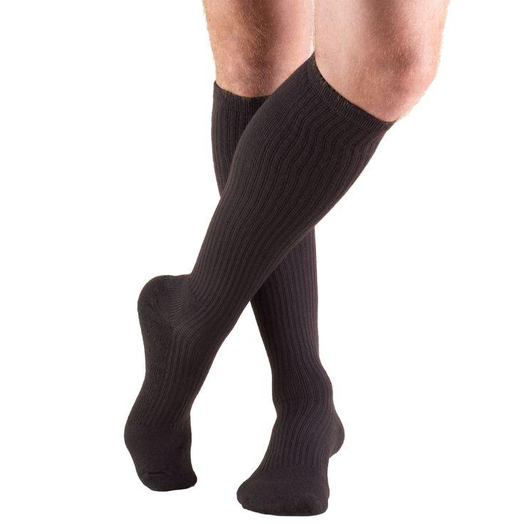 Men's Calf Length Cushion Foot Socks, 15-20 mmHg (Truform 1933)
