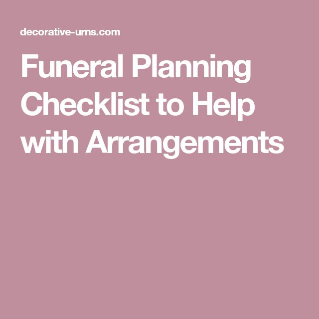 The  Best Funeral Planning Checklist Ideas On