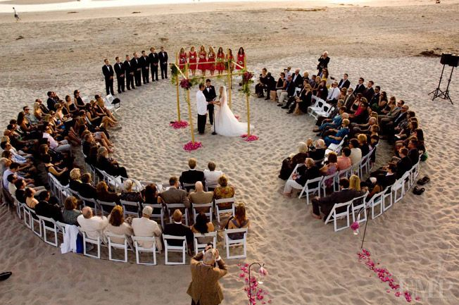 love this style wedding ceremony seating. surrounded by people who love you.