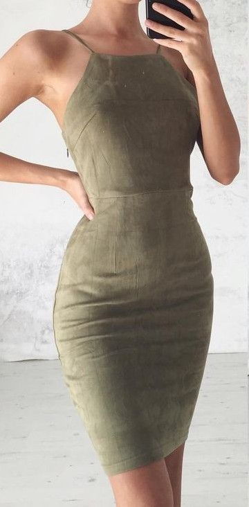 Kylie Suede Dress                                                                             Source