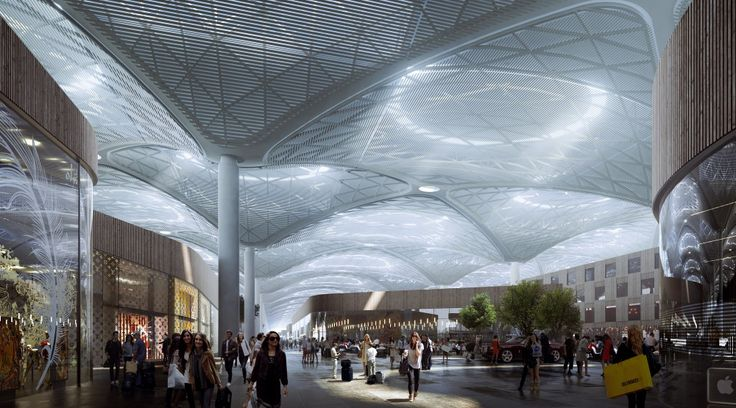 Grimshaw Releases New Images of World's Largest Airport Terminal in Istanbul