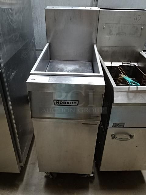 Hobart Stainless Steel Commercial Deep Fryer On Commercial Casters https://www.pciauctions.com/item_detail.php?item=599553&pageNum_items=10&totalRows_items=737&auction=2627&page=&utm_content=bufferba58d&utm_medium=social&utm_source=pinterest.com&utm_campaign=buffer Don't Miss Thursday Nights Auction !!