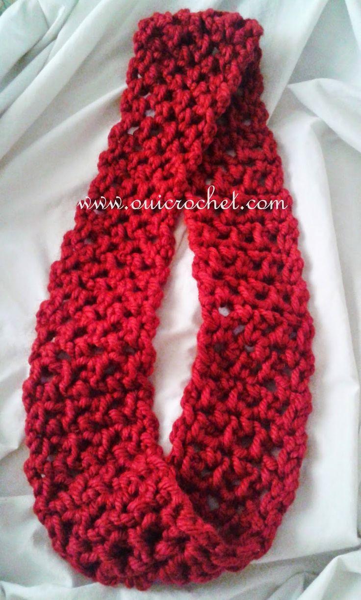 614 besten Crochet scarves Bilder auf Pinterest | Häkeln, kostenlose ...