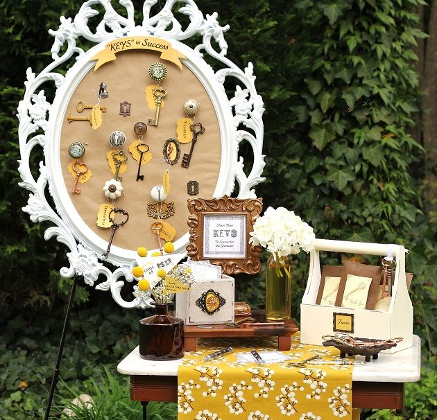 """Keys To Success"" Graduation Party Decor: Theme Parties, Keys, Grad Parties, Graduation Ideas, Parties Ideas, Success Graduation, Graduation Parties Decor, Parties Theme, High Schools"