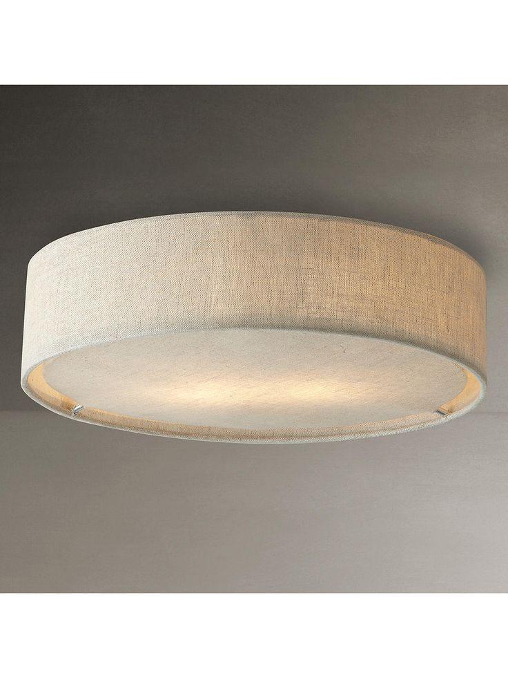 John Lewis & Partners Samantha Linen Flush Ceiling Light | Ceiling Lights, Ceiling Lights Living Room, Bedroom Ceiling Light