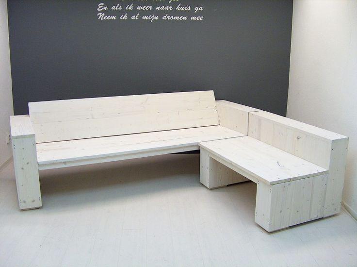Lounge hoekbank nieuw steigerhout white wash (2231540WH)   Lounge-banken & stoelen   JORG`S Houten Meubelen