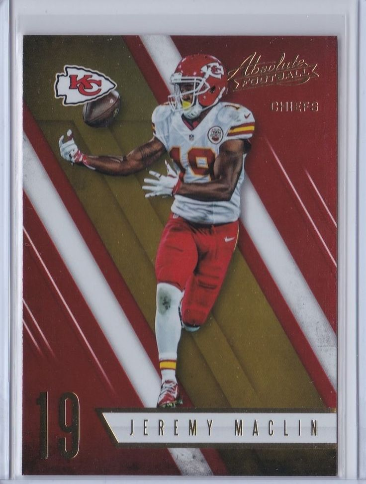 2016 Absolute Football Jeremy Maclin Kansas City Chiefs Sports Card No. 35 #KansasCityChiefs