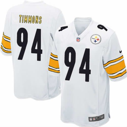 Youth Lawrence Timmons Pittsburgh Steelers Jersey #94 White Limited Nike NFL Jersey Sale