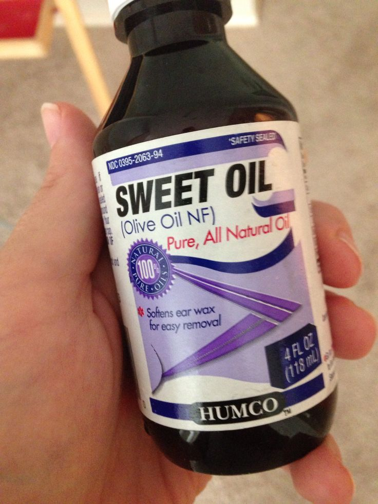Can you use sweet oil for ear infections?