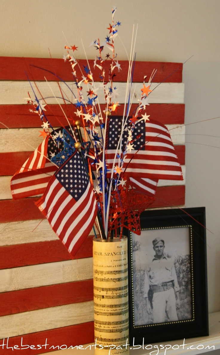 An Easy 4th Centerpiece (tutorial), Patriotic & 4th of July Crafts