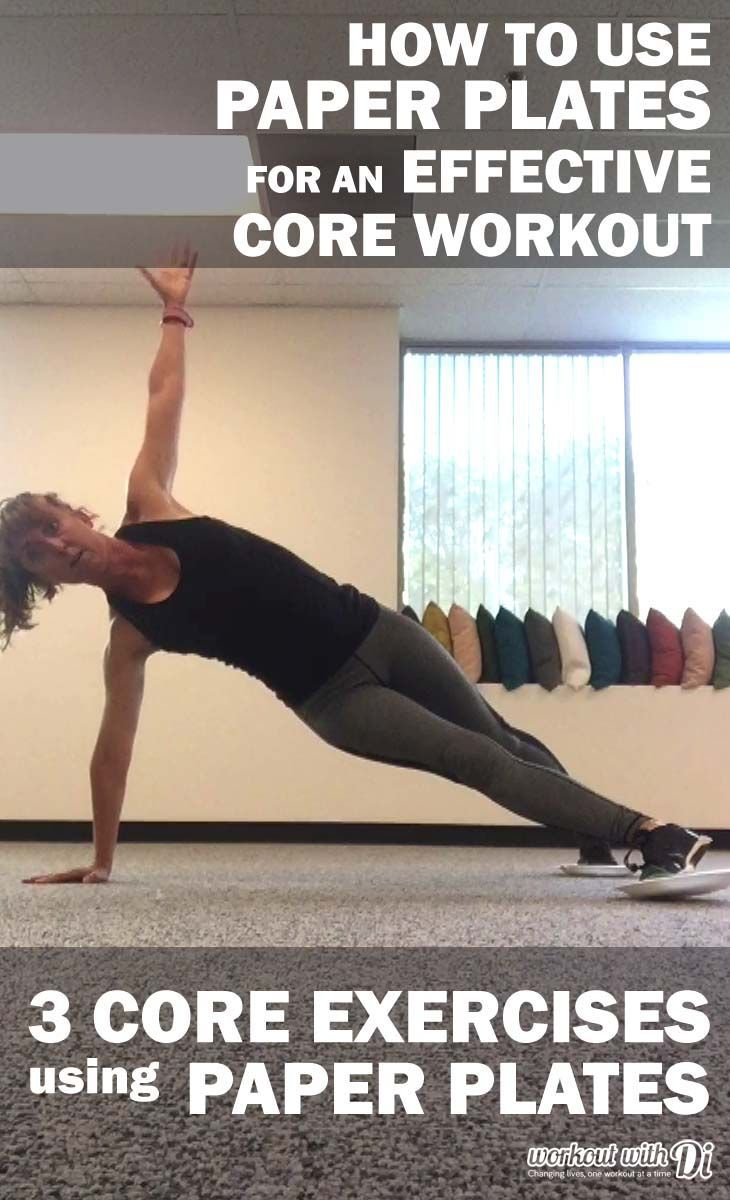Want a quick core workout? Try these 3 Core Exercises using Paper Plates. If you have wood or tile floor use towels. No excuses, get it done!