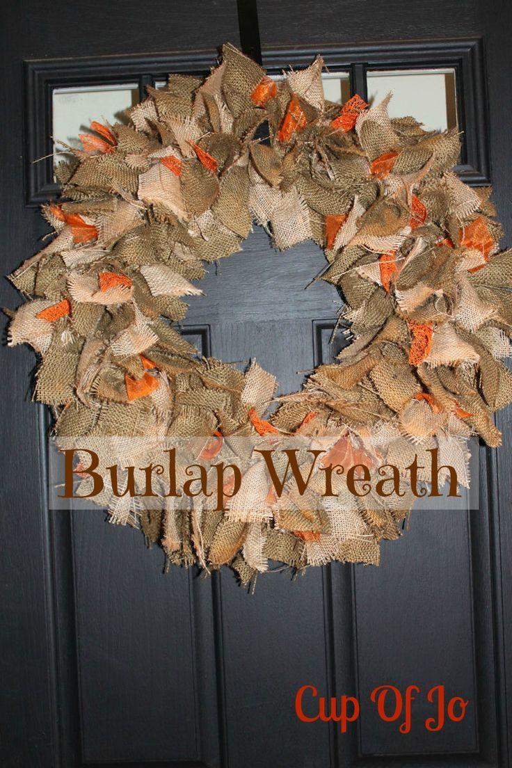 Cup Of Jo: Fall Burlap Wreath