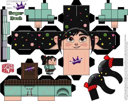 Vanellope Von Schweetz Cubeecraft from Disney's Wreck it Ralph | SKGaleana