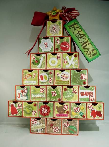 Bright and Cheery Advent Tree by 20something - Cards and Paper Crafts at Splitcoaststampers