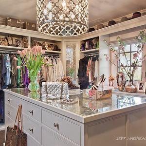 Jeff Andrews Design - closets - custom closet, custom closet design, clothes rails, double hung clothes rails, built in dresser, closet dresser