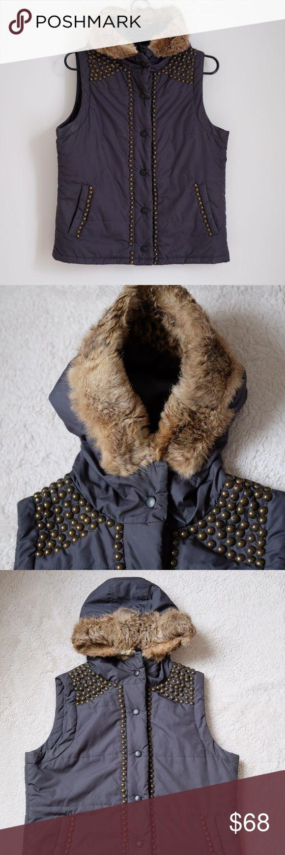 NAF NAF REAL RABBIT FUR JACKET Beutiful jacket In a very good pre-loved condition  size M NAF NAF Jackets & Coats