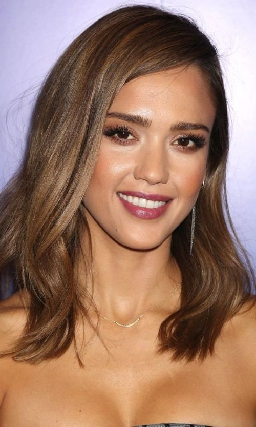 jessica alba braune haare haare pinterest jessica alba. Black Bedroom Furniture Sets. Home Design Ideas