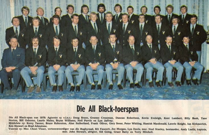 Arrival - The McLook rugby collection ALL BLACK TOURING SQUAD 1976