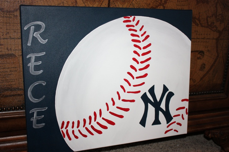 Personalized Baseball Canvas, but obviously it would have the Braves' A on it!