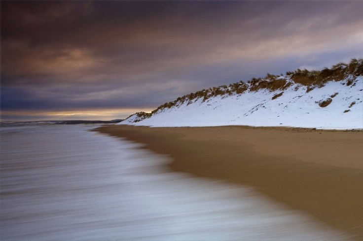 'Sea, Sand & Snow' -    David Langan |  Taken on Lossiemouth's East Beach shortly after a flurry of snow