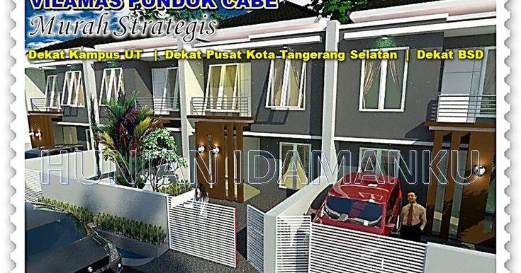 Dijual Rumah Minimalis Murah 2 Lt di Vilamas Pondok Cabe   Harga Mulai 700 Juta an   Dekat Universitas Terbuka