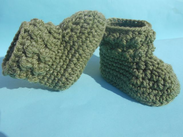 ... Urdu, Hindi Video Tutorials: Crochet Booties Pattern - Free Crochet