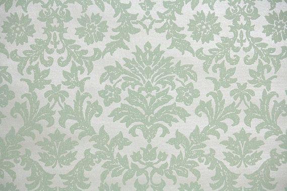 1940's Vintage Wallpaper pale green damask by HannahsTreasures, $14.00