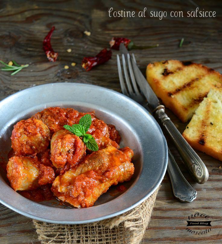 Spuntature al sugo con salsicce, ricetta tradizionale