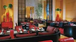 To eat at L'Atelier de Joel Robuchon's at the Four Seasons Hotel.
