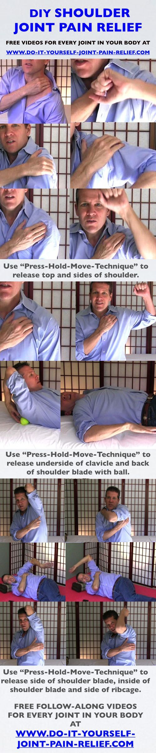 DIY Shoulder Joint Pain Relief psoas trigger points lower backs