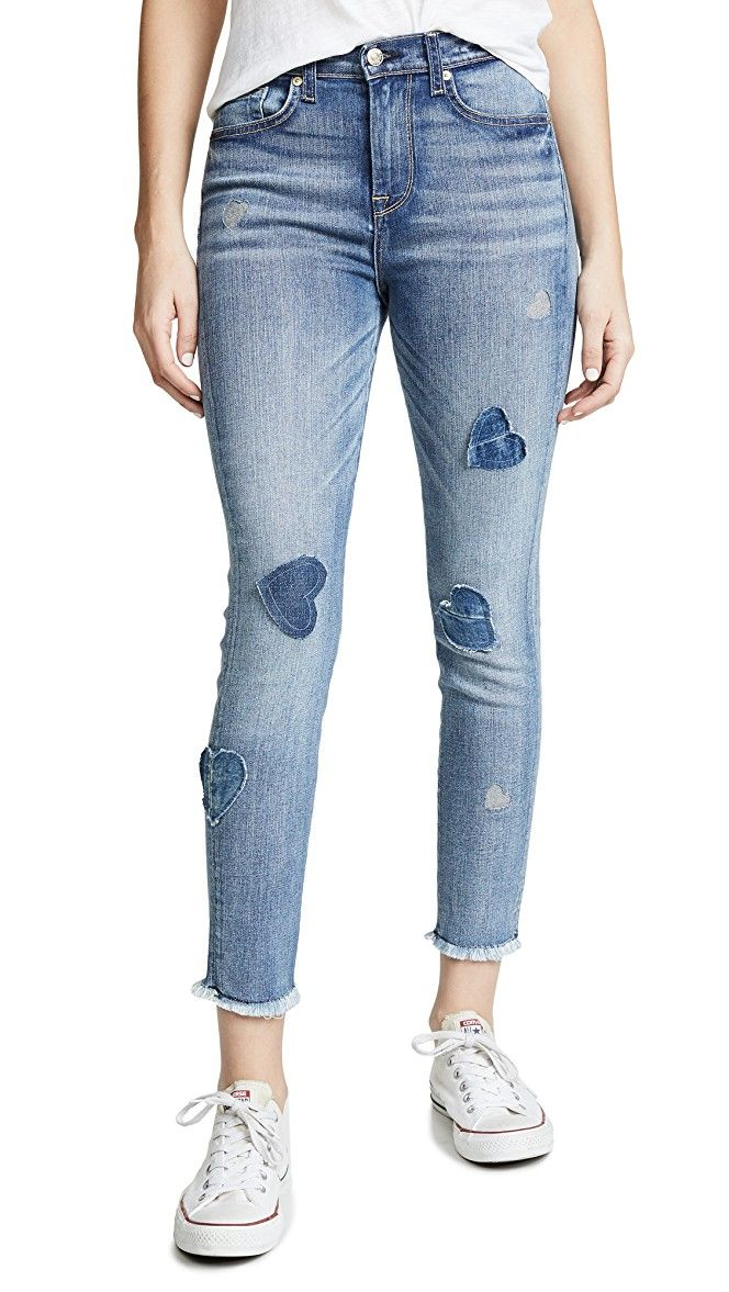 Ankle Skinny Jeans With Patches Skinny Jeans Skinny Jeans