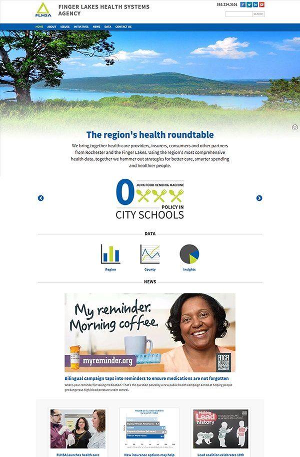FLHSA | Finger Lakes Health System Agency | Custom Responsive Website Design | Sharp Notions, LLC. #webdesign #webdevelopment
