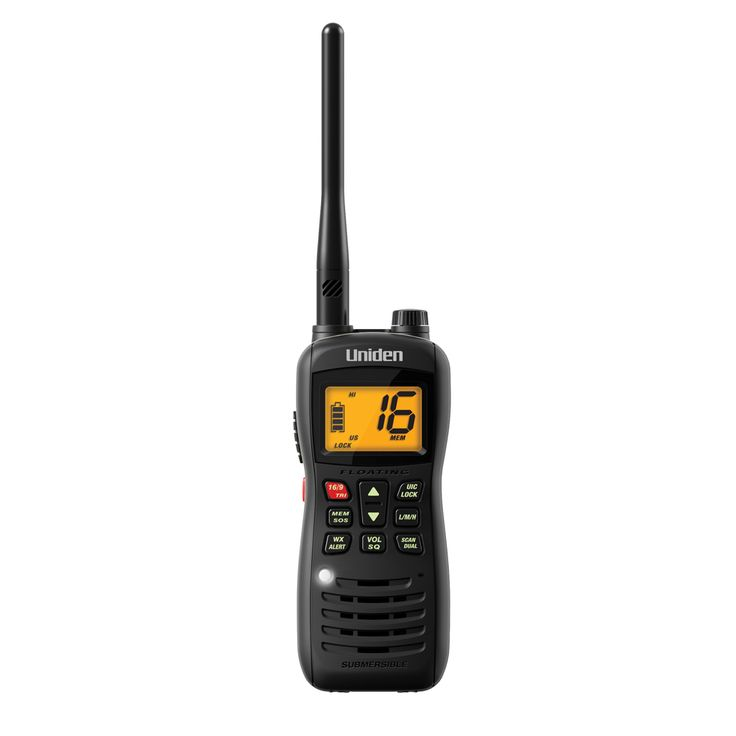 Uniden MHS126 Handheld VHF - https://www.boatpartsforless.com/shop/uniden-mhs126-handheld-vhf/