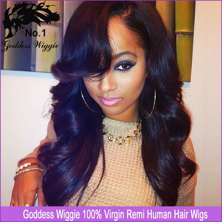 167 best beautiful human hair images on pinterest hairstyles online shop affordable full lace wig brazilian virgin wet wavy glueless full lace human hair wigs with bangs for black women sale pmusecretfo Image collections