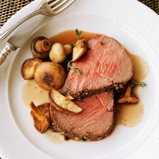 how to serve roast beef