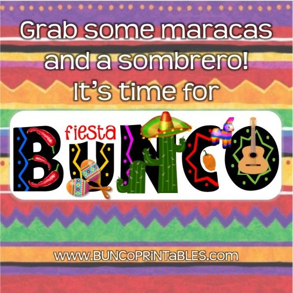 Fiesta Bunco Set | www.BuncoPrintables.com