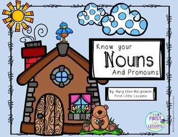 First Little Lessons StoreLearn about and explore Nouns and Pronouns.This product includes the following Noun and Pronoun printables:Naming Nouns Spin and Write PracticeClassroom Nouns - Looking for and listing nouns in the classroomNouns Picture Cut Sort Paste ActivitySpin and Color Nouns Activity Page Roll and Write Nouns Activity Noun Spin and ColorPronouns Spin and ColorSingular and Plural Noun Sort Cut PasteNoun Interactive NotebookPronoun Interactive NotebookNoun and Pronoun Sort Cut…