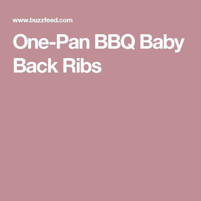One-Pan BBQ Baby Back Ribs