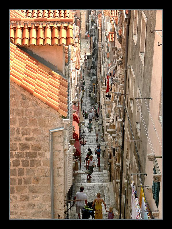 Down The Stairs - Streets Of Dubrovnik