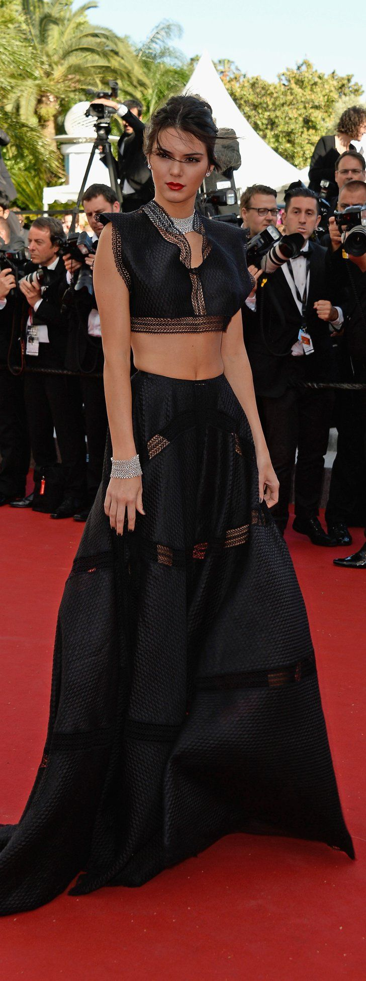 Pin for Later: Kendall Jenner Just Wore a Crop Top on the Cannes Red Carpet
