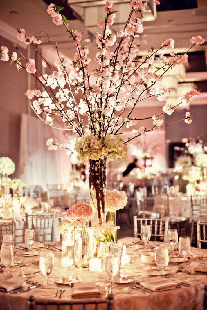Wedding Centerpieces Branches Cherry Blossoms | Cherry blossom ...