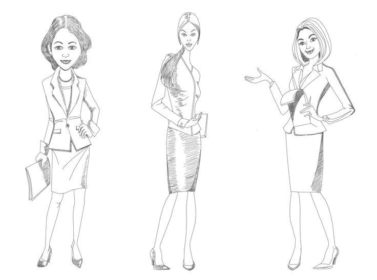 bisnis woman caracter