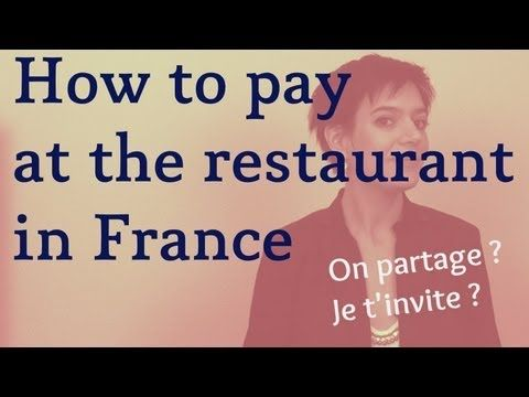 How to pay at the restaurant in France