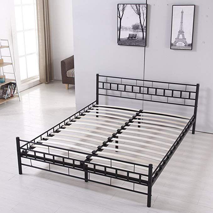 Bestmart Inc Foldable Easy Set Up Steel Bed Frame Platform Bed