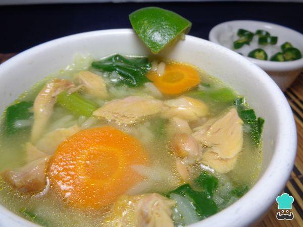 Receta de Sopa de arroz con verduras y pollo #RecetasGratis #RecetasMexicanas #ComidaMexicana #CocinaMexicana #Sopa